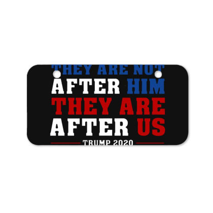 They Are Not After Me Impeachment Trump Bicycle License Plate Designed By Star Store