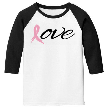Breast Cancer Awareness - Love Youth 3/4 Sleeve Designed By Black Box