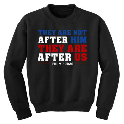 They Are Not After Me Impeachment Trump Youth Sweatshirt Designed By Star Store