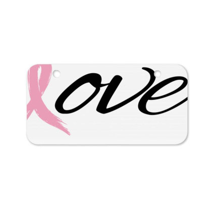 Breast Cancer Awareness - Love Bicycle License Plate Designed By Black Box