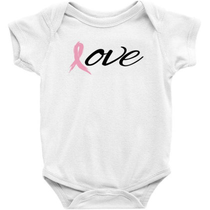 Breast Cancer Awareness - Love Baby Bodysuit Designed By Black Box