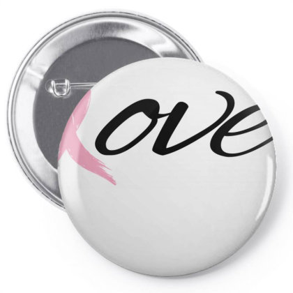 Breast Cancer Awareness - Love Pin-back Button Designed By Black Box