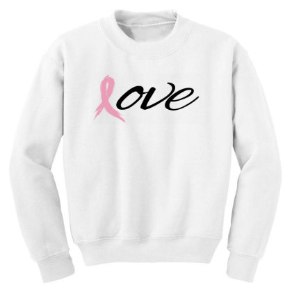 Breast Cancer Awareness - Love Youth Sweatshirt Designed By Black Box