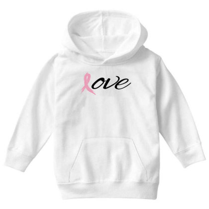 Breast Cancer Awareness - Love Youth Hoodie Designed By Black Box