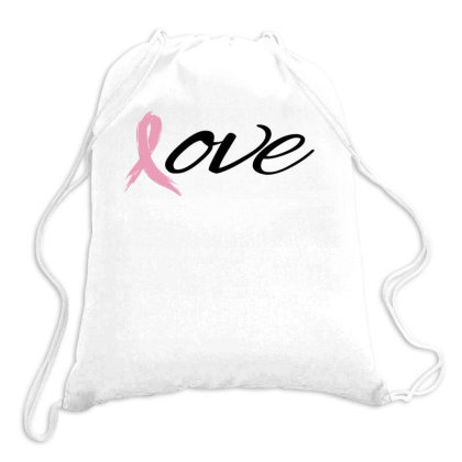 Breast Cancer Awareness - Love Drawstring Bags Designed By Black Box