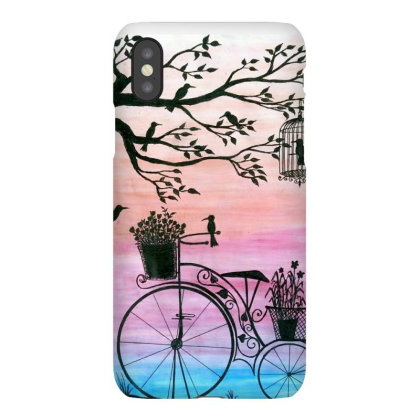 Cycle Silhouette Painting Iphonex Case Designed By Xee_fay
