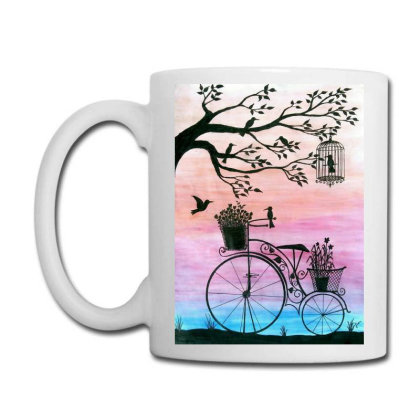 Cycle Silhouette Painting Coffee Mug Designed By Xee_fay