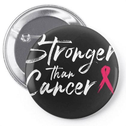 Stronger Than Cancer - Breast Cancer Survivor Pin-back Button Designed By Meza Design