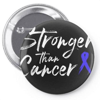 Stronger Than Cancer - Colon Cancer Survivor Pin-back Button Designed By Meza Design