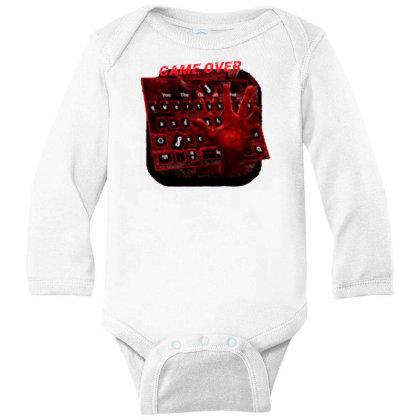 Game Over Long Sleeve Baby Bodysuit Designed By Killer Artist