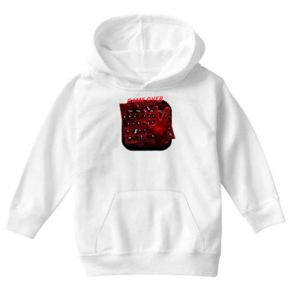 Game Over Youth Hoodie Designed By Killer Artist