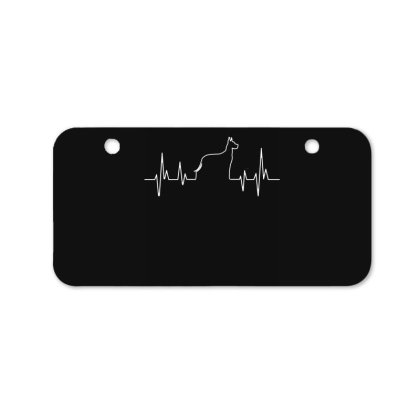 Dog Lover Line Heart Beat Simple Bicycle License Plate Designed By Vip.pro123
