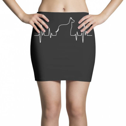 Dog Lover Line Heart Beat Simple Mini Skirts Designed By Vip.pro123