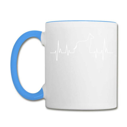Dog Lover Line Heart Beat Simple Coffee Mug Designed By Vip.pro123