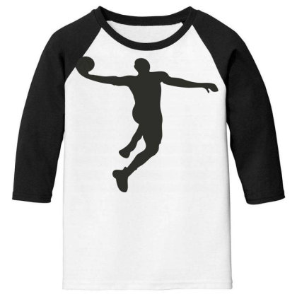 Basketball Player Youth 3/4 Sleeve Designed By Jigii