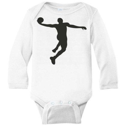Basketball Player Long Sleeve Baby Bodysuit Designed By Jigii