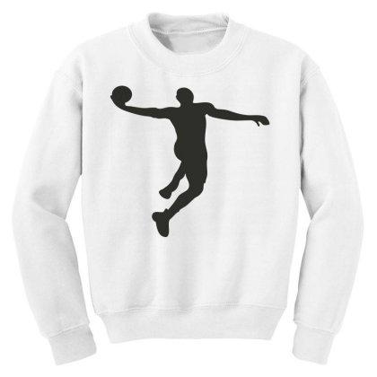 Basketball Player Youth Sweatshirt Designed By Jigii