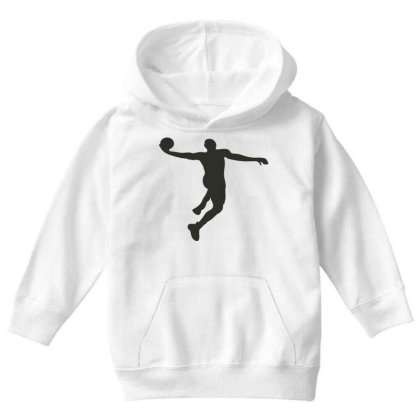 Basketball Player Youth Hoodie Designed By Jigii