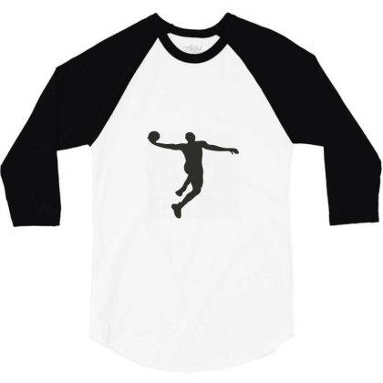 Basketball Player 3/4 Sleeve Shirt Designed By Jigii