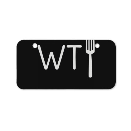 Wtf Fork Bicycle License Plate Designed By Lyly