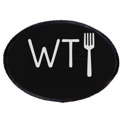 Wtf Fork Oval Patch Designed By Lyly