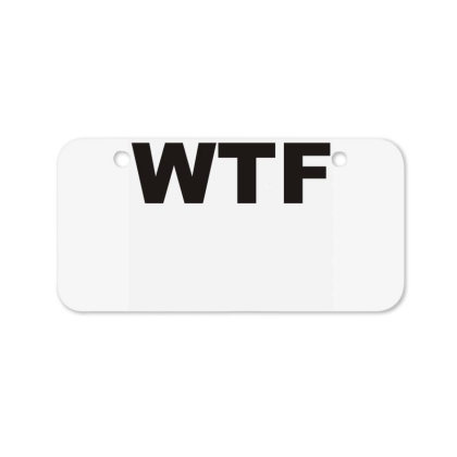 Wtf Bicycle License Plate Designed By Lyly