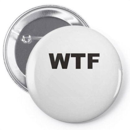 Wtf Pin-back Button Designed By Lyly