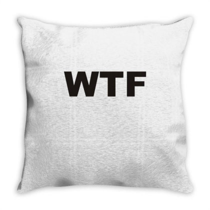 Wtf Throw Pillow Designed By Lyly