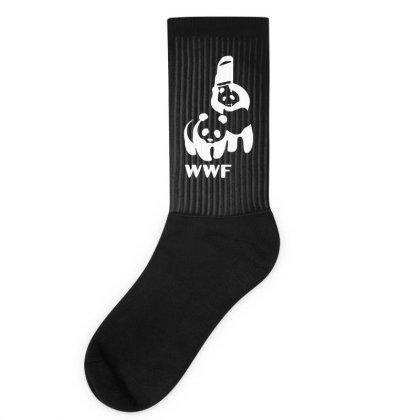 Wwf Funny Panda Bear Funny Banksy Wrestling Socks Designed By Lyly