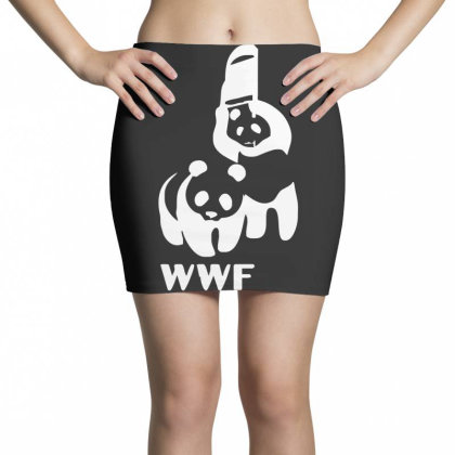 Wwf Funny Panda Bear Funny Banksy Wrestling Mini Skirts Designed By Lyly