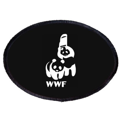 Wwf Funny Panda Bear Funny Banksy Wrestling Oval Patch Designed By Lyly