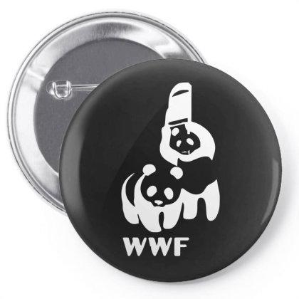 Wwf Funny Panda Bear Funny Banksy Wrestling Pin-back Button Designed By Lyly
