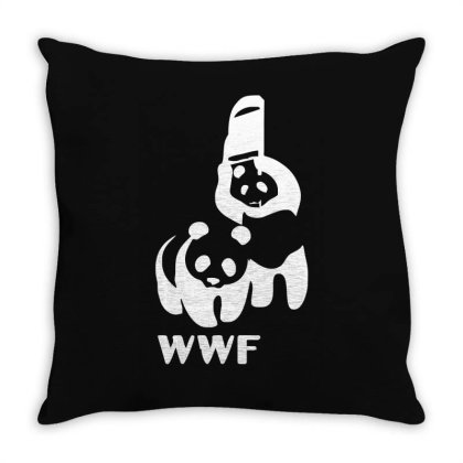 Wwf Funny Panda Bear Funny Banksy Wrestling Throw Pillow Designed By Lyly