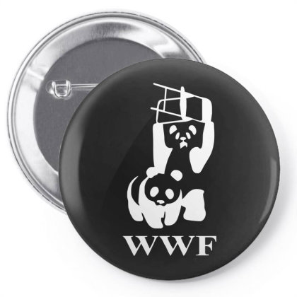 Wwf Panda   Mens Funny Pin-back Button Designed By Lyly