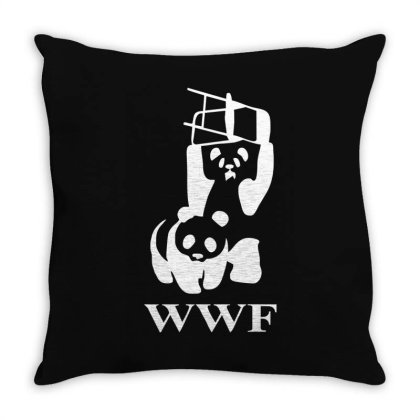Wwf Panda   Mens Funny Throw Pillow Designed By Lyly