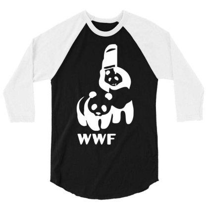 Wwf Funny Panda Bear Funny Banksy Wrestling 3/4 Sleeve Shirt Designed By Lyly