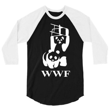Wwf Panda   Mens Funny 3/4 Sleeve Shirt Designed By Lyly