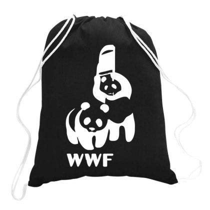 Wwf Funny Panda Bear Funny Banksy Wrestling Drawstring Bags Designed By Lyly
