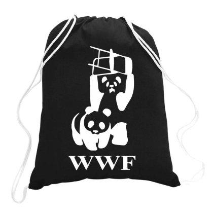 Wwf Panda   Mens Funny Drawstring Bags Designed By Lyly
