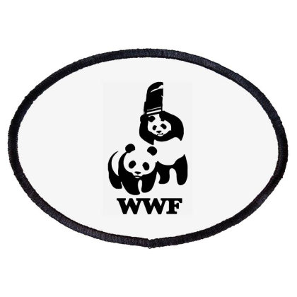 Wwf Panda Oval Patch Designed By Lyly