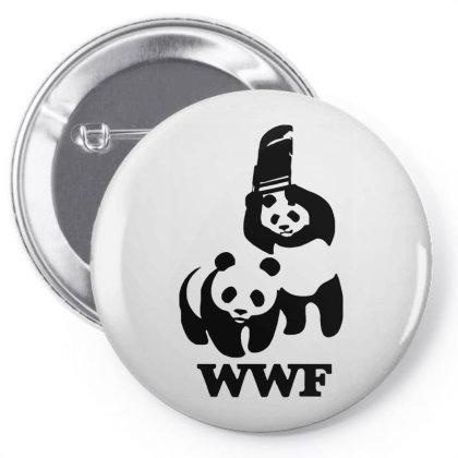 Wwf Panda Pin-back Button Designed By Lyly