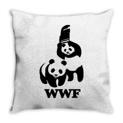 Wwf Panda Throw Pillow Designed By Lyly