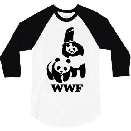 Wwf Panda 3/4 Sleeve Shirt Designed By Lyly