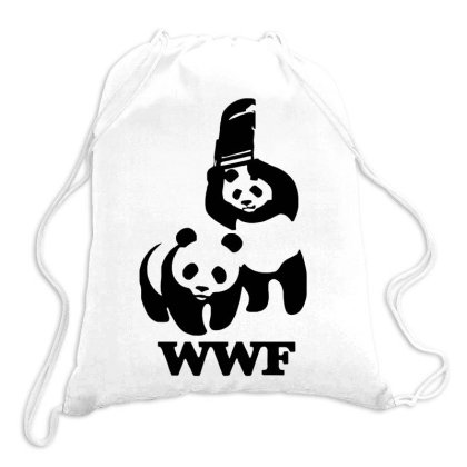 Wwf Panda Drawstring Bags Designed By Lyly