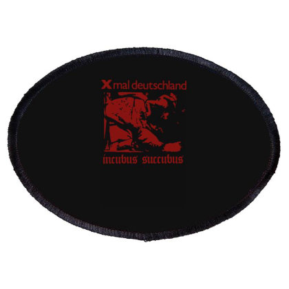 Xmal Deutschland Incubus Succubus Gothic Rock Band Oval Patch Designed By Lyly