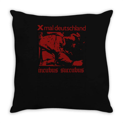 Xmal Deutschland Incubus Succubus Gothic Rock Band Throw Pillow Designed By Lyly