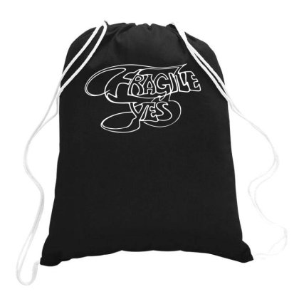 Yes Fragile Graffiti Drawstring Bags Designed By Lyly