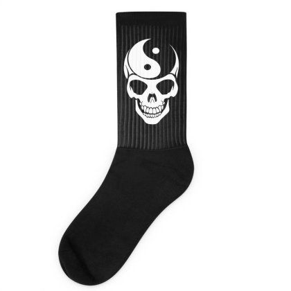 Yin Yang Skull Socks Designed By Lyly