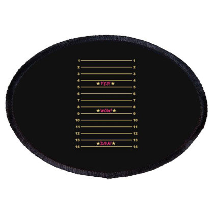 Yes Wow Diva Length Check Oval Patch Designed By Lyly