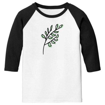 Leaf Design Youth 3/4 Sleeve Designed By Dineshoram6041